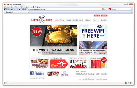 Little Chef homepage